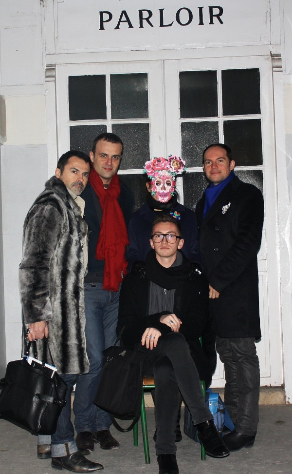 Mes it boys et bodyguards: Fred Blanc, Hervé Dewintre, Pascal Martinez et Simon Laforce.