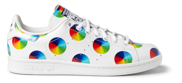 ADIDAS sur MrPorter.com - Sneaker Stan Smith en cuir imprimé - 100€