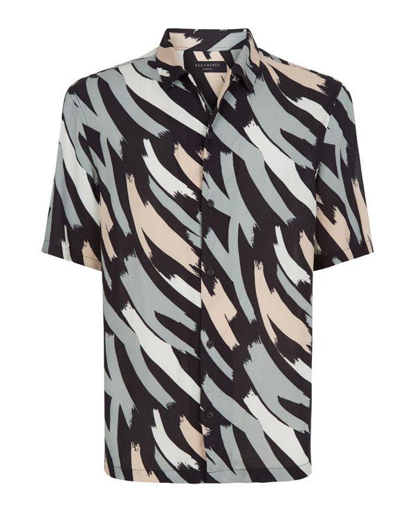 ALLSAINTS – Chemise à manche courte à imprimés en coton – 108€