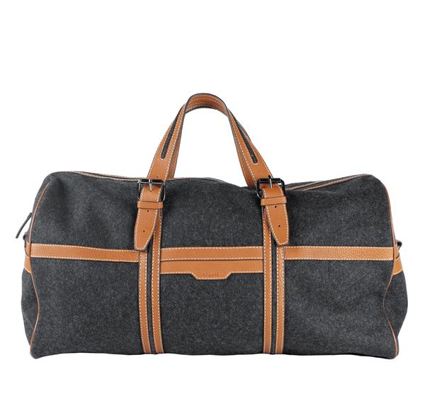 AZZARO PARIS - Sac en laine et cuir – 280 €