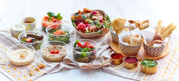 Ambiance mezzés + salade