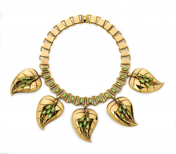 Atelier Swarovski by Sandy Powell Leaf Necklace - Green
