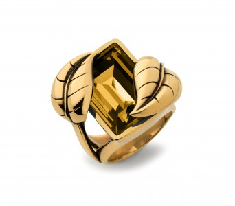 Atelier Swarovski by Sandy Powell Leaf Ring - Gold