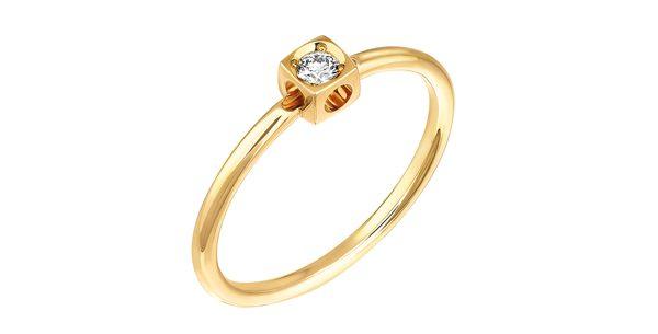 Bague Le Cube Diamant or jaune diamant 700€ dinh van