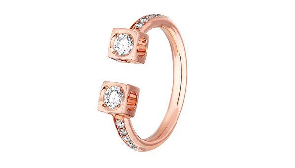 Bague Le Cube Diamant or rose diamants 2600€ dinh van