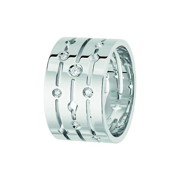 Bague Pulse dinh van en or blanc et diamants GM 3000Ôé¼ dinh van