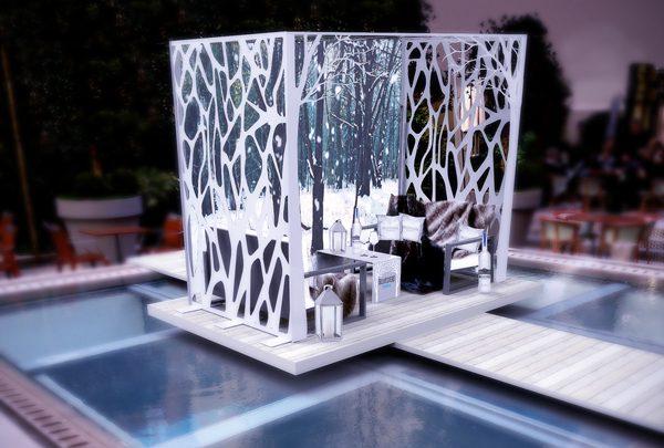 Belvedere s'installe dans le jardin du Royal Monceau