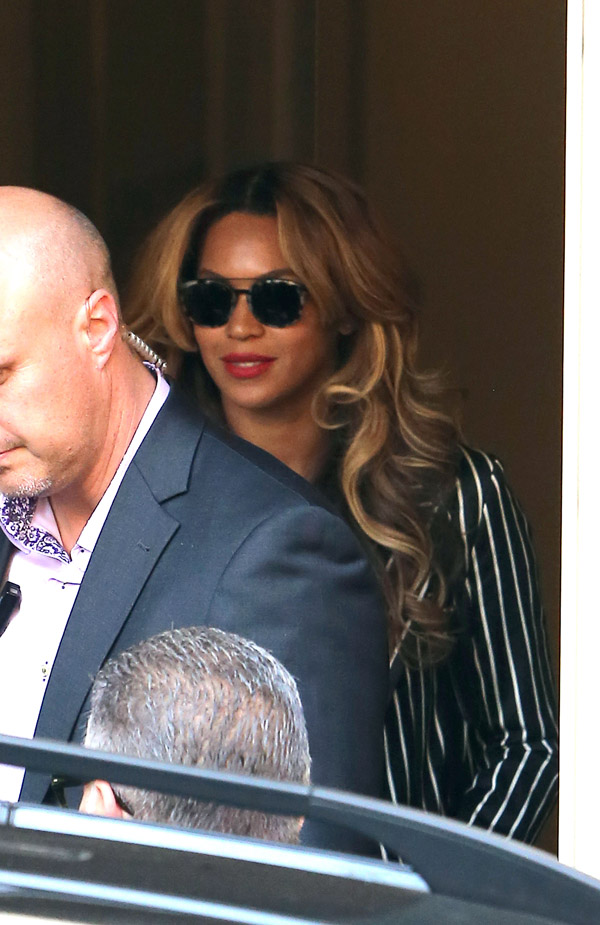 Beyonce and Jay Z went to Transatlantique video studio before returning to their hotel