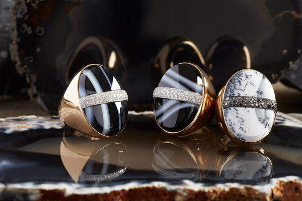 Black & White Obsession rings - ARMONIE MINERALI by Pomellato