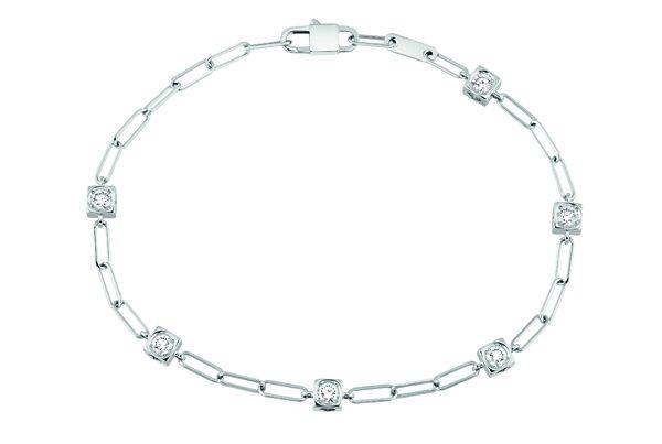 Bracelet Le Cube Diamant en or blanc et 6 diamants 2590Ôé¼ dinh van