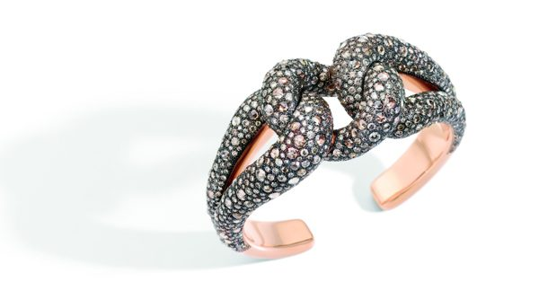Bracelet Tango Pomellato - or rose et diamants bruns - 60 500€