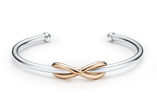 Bracelet Tiffany Infinity en or rose - Opération St-Valentin 16 Royal Monceau