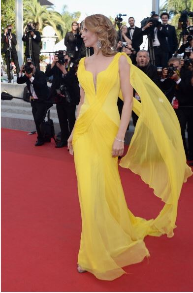 Cannes 2014 - John Nollet styles Uma Thurman Sils Maria