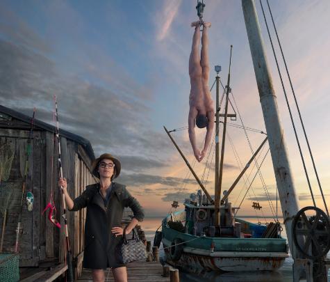 Le Photographe Peter Lippmann part à la pêche pour Louboutin