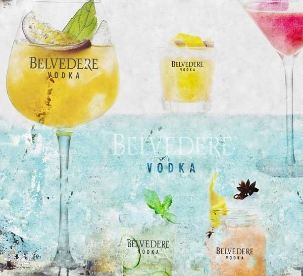 Nouvelle carte de cocktails Belvedere