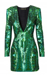 """Robe femme """"rebrodée sequins"""" décolleté V : 149 €"""
