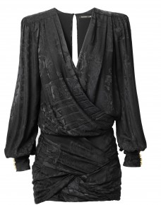 Robe mini femme drapée : 149 €
