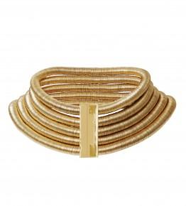Collier femme métal doré : 79,99 €