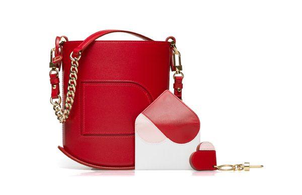 DELVAUX - Sac Pin Mini Bucket D Coeur – 2 100€ et Porte Cartes D Coeur – 250€