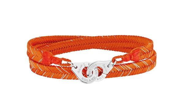 DINH VAN x ROLAND GARROS - Bracelet tissé Menottes en argent - 280€
