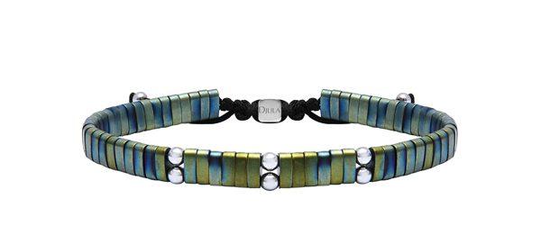 DJULA - Bracelet articulé en argent et cuivre oxydé - 55€