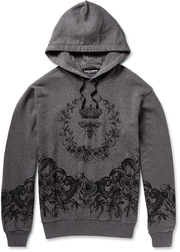 DOLCE & GABBANA - Sweatshirt à capuche en coton - 525€