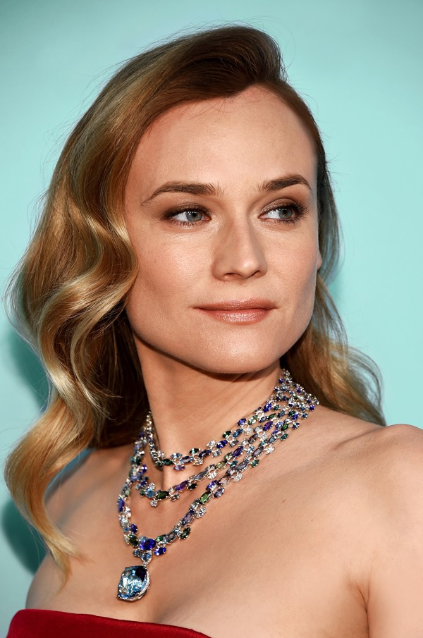 Diane Kruger portant un collier Tiffany & Co. Blue Book 2016