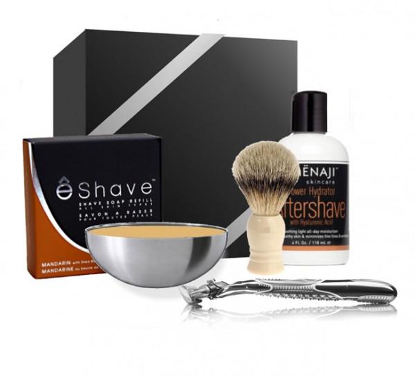 E-Shave sur MENLOOK.COM - le kit du barbier 690€