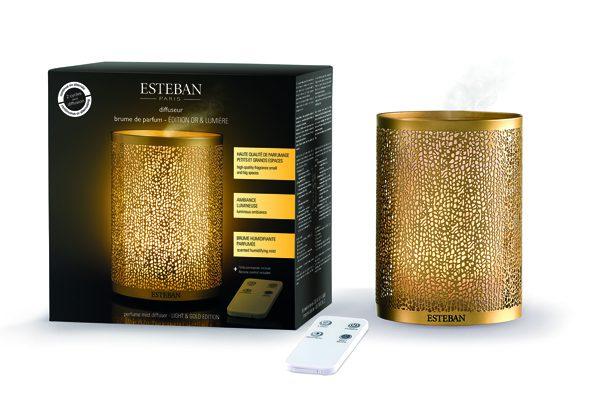ESTEBAN - Diffuseur Brume Or et Lumière - 65€