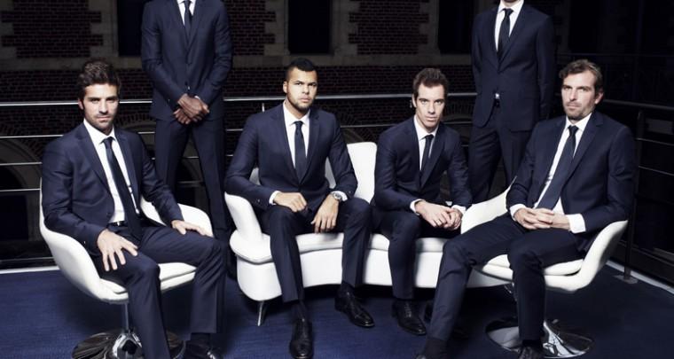 l'Equipe de France de Tennis en Daniel Hechter pour la Coupe Davis (ou presque)
