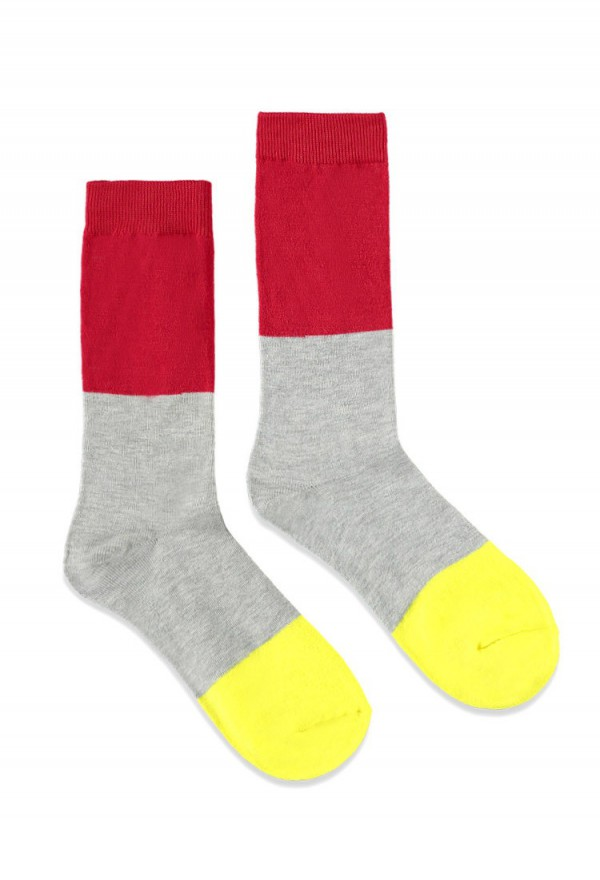 FOREVER21 - Chaussettes color-block – 3 €