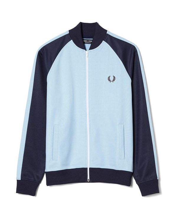 FRED PERRY - Veste de survêtement bicolore en coton - 115€