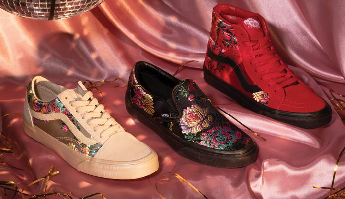 La collection Satin Brocade de Vans