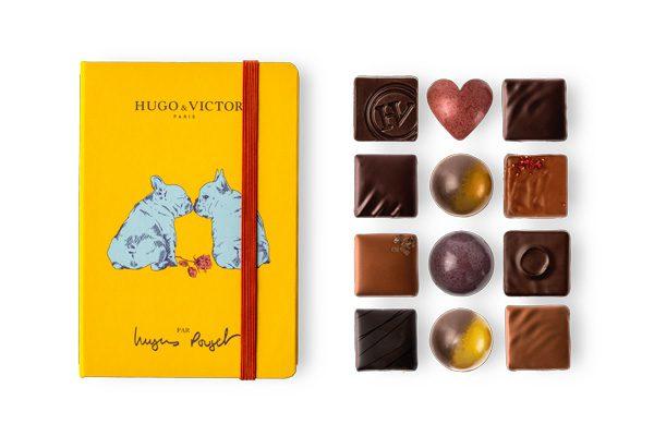 HUGO & VICTOR - Carnet de 12 chocolats - 22€
