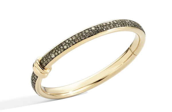 ICONICA bangle in rose gold and brown diamonds by Pomellato