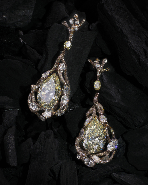 [Image] CINDY CHAO The Art Jewel 2015 Black Label Masterpiece No. 8 Architectural Yellow Diamond Earrings