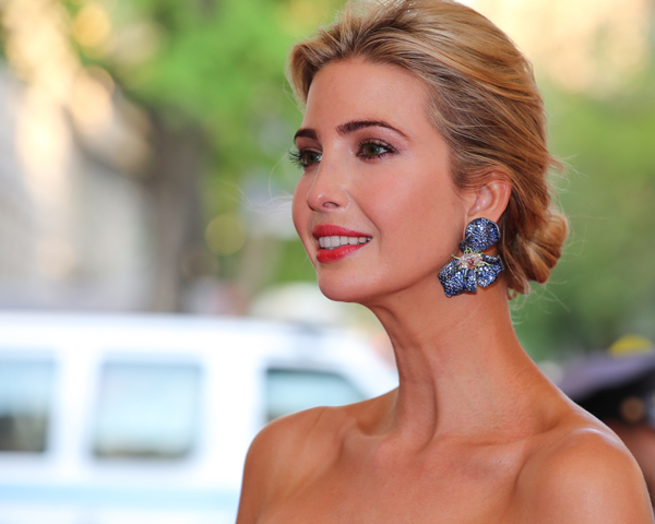 Ivanka Trump wearing Cindy Chao The Art Jewel