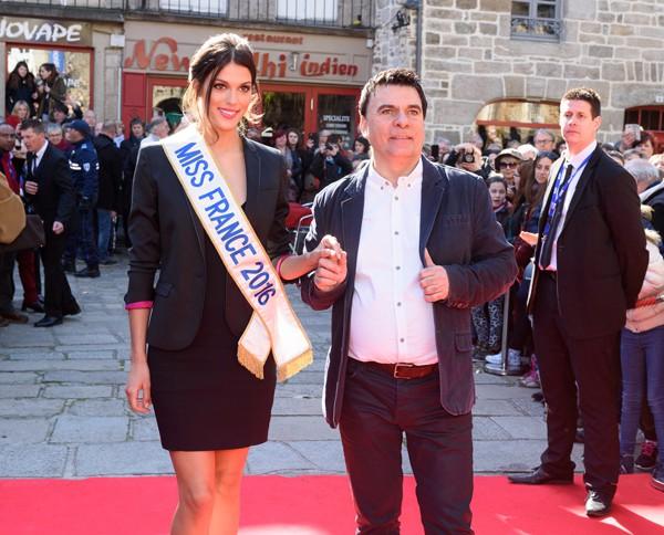 Iris Mittenaere, Miss France 2016 et Dominique Damien Réhel, président du festival