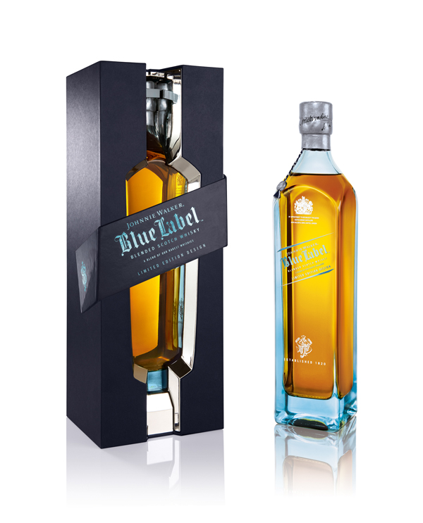 Johnnie Walker Coffret et Bouteille Blue Label