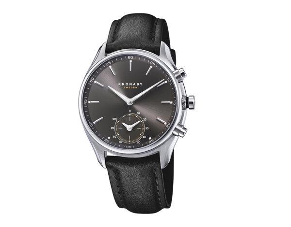 KRONABY - Monttre connecté bracelet cuir - 395€