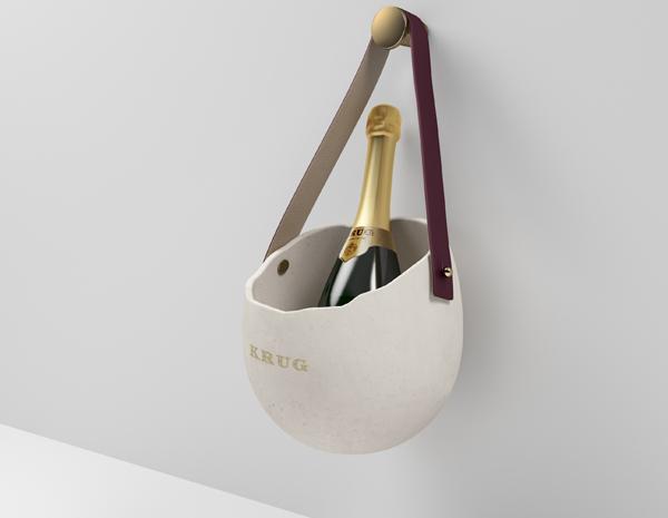 Krug revisite le seau à champagne