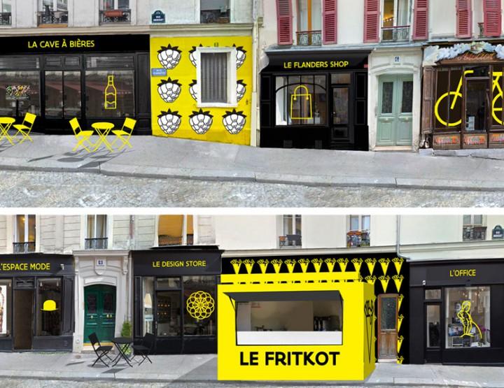 Bienvenue dans la Rue de la Flandre à Paris