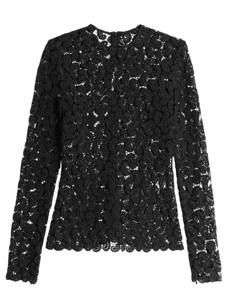 MARY KATRANZOU sur Stylebop.com - Top en dentelle Pasiley - 1 130€