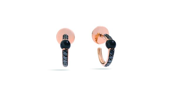 M'ama Non M'ama earrings with onyx by Pomellato - 1 800€