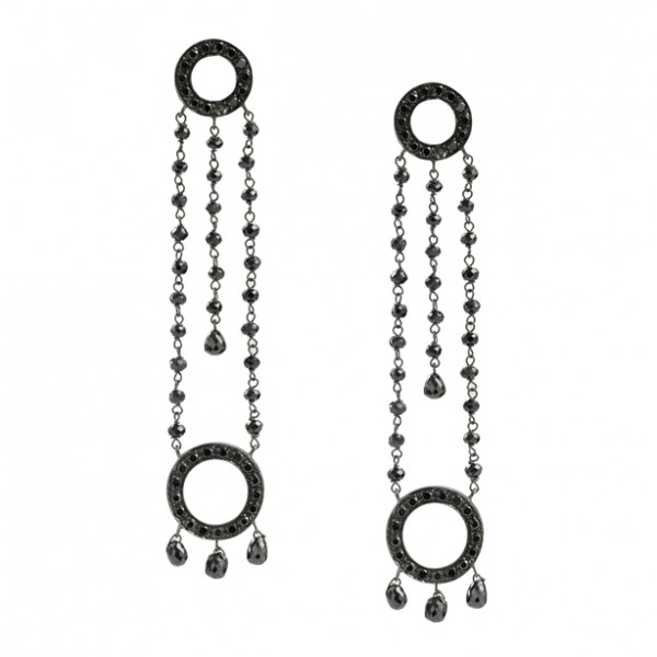 Mauritzio Pintaldi BO Cerchio Drops or noir et diamants noirs