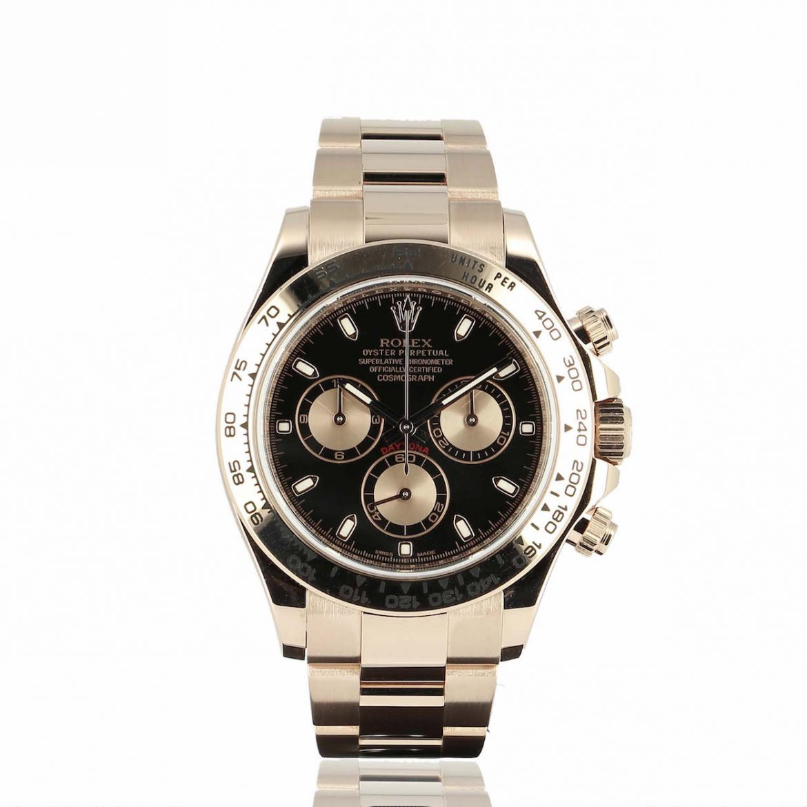 Montre Rolex Daytona or rose - Les Montres Collector