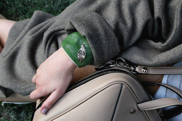 NICOLAS THEIL - Bracelet pomme galuchat - Prix sur demande