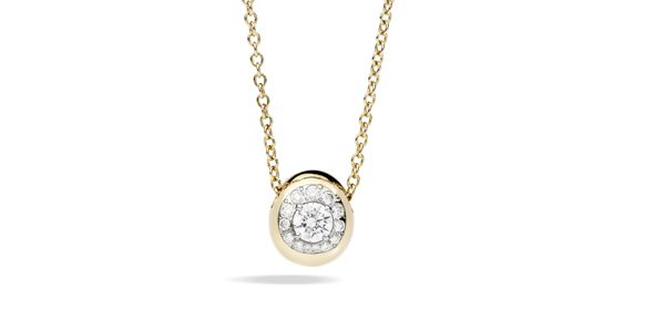 Nuvola pendant rose gold and diamonds by Pomellato