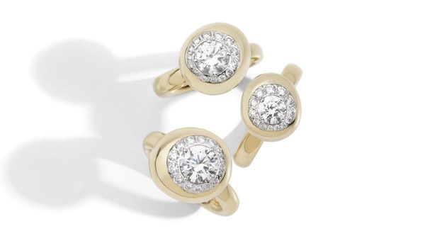 Nuvola rings rose gold and diamonds by Pomellato - Groupage 2