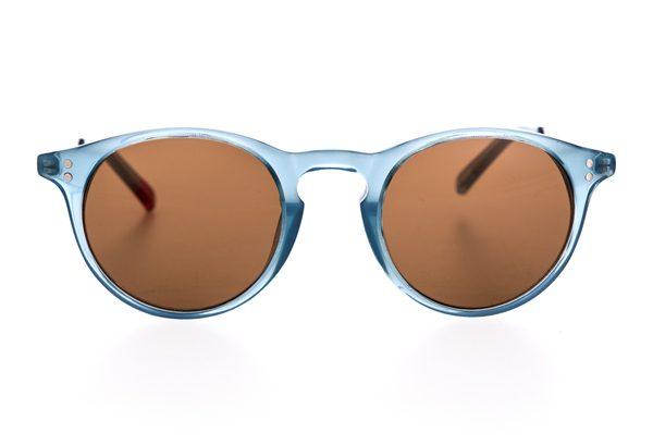 OLIVER SPENCER – Lunettes de soleil « William » turquoises – 231 €